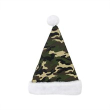 Camouflage Santa Hat with Plush Cuff